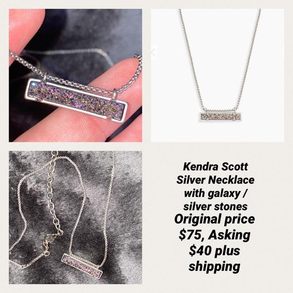Kendra Scott Silver / Galaxy Bar Necklace